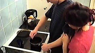 Stepmom seduce her boy in kitchen PT1- More On HDMilfCam.com