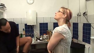 Nice Kitchen Sex With Hot German Housewife