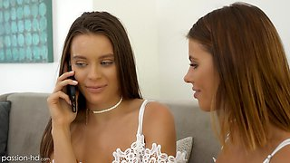 Stunning Adriana Chechik and her friend get pounded together