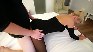 german daynia pantyhose black dress