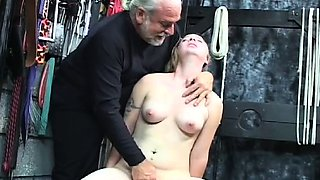 Naughty flogging and sex in bondage video