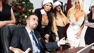 Brazzers – Office 4-Play: Christmas Bonuses