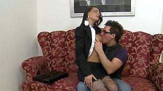 Sweet mom secretary fuck with her nasty boss