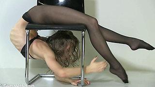 Flexible gymnast tatiana armchair 1080p