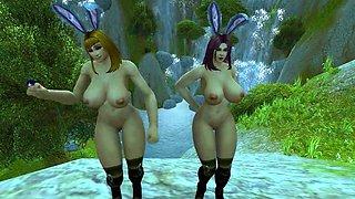 Warcraft Busty Human Bunnies