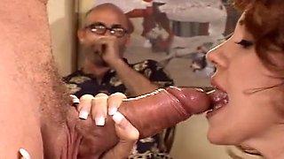 Nasty wife enjoying a bulky boner that doesn't belong to her man