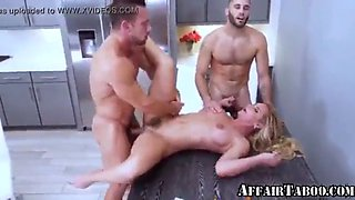 Cheating mom forced to fuck by son and best friend