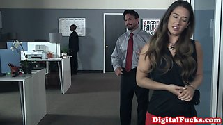 Busty wife plowed after office work