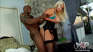 Busty Blonde Has Some Interracial Fun