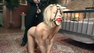 Teen slave gets hard anal and deep throat with cumshot