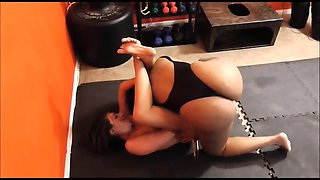 Black beauty fucking and facesitting in Academy Wrestling