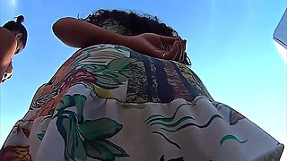 milf outdoor panty upskirt