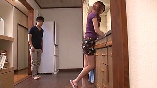 Japanese mom & son in the bathroom 4