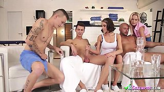 Awesome Czech Bisex Fuck Party