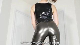 rubber pants, tight ass