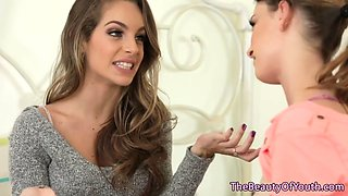 young lesbian beauties tribbing gently