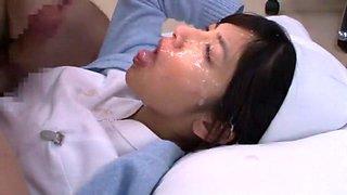Crazy Japanese slut Airi Misora in Best Nurse JAV scene