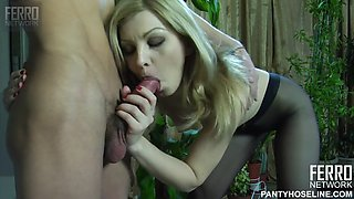 Ninette and harry have pantyhose sex