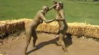 Big Boob Naked Mud Wrestling