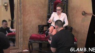 mistress spanks her slave hot segment 1