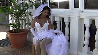 playing a bride pantyhose