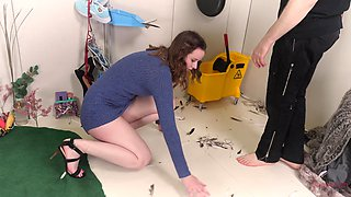 Submissive brunette teen Jessica Kay has a rough sex session