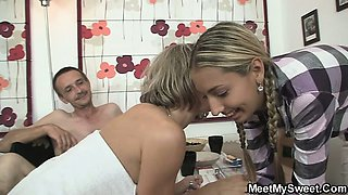 Foursome with her BF\'s friend and friend