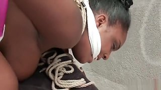 Black cunt gets degraded, humiliated, used and abused part1