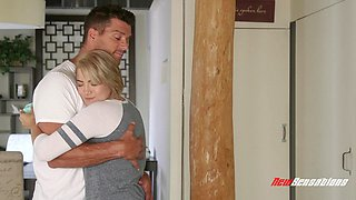 Nasty step daughter Alix Lovell is eager to put a stiffy in her mouth