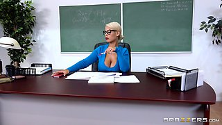 Bridgette B is a naughty babe with big tits ready to ride a dick