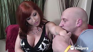 Redhead MILF Brittany Oconnell pussy drilled by hard dick and gets healthy snack