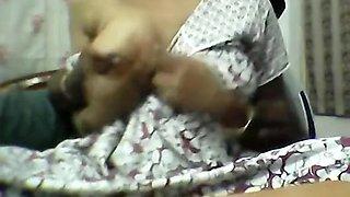 Desi Aunty Enjoy Boob Pressing Her Devar