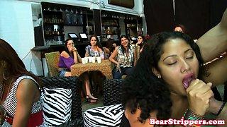 My ebony wife blowing strippers BBC