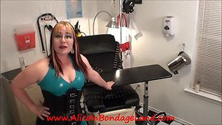 POV Maitresse Renee's Medical Room Rubber Chastity FemDom