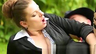 Glamour Fetish Slut Fucks Outdoors