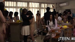 Cute schoolgirls gets her juicy cum-hole finger fucked hard