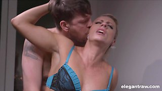Incredible face fucking with his cock-worshiping Brittany Bardot