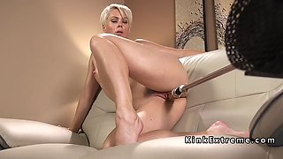 blonde mature lady fucking machine