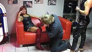 Amazing homemade Latex, Threesomes sex clip