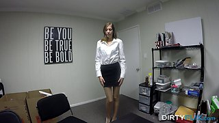 Elegant Molly Manson gets naked and enjoys the rough POV penetration