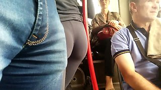 The butts on the bus are round and round...