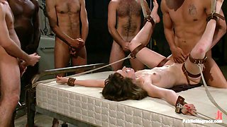 Bondage Gang Bang Test Shoot - PublicDisgrace