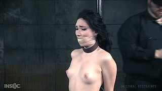Sexy woman Aria Alexander is punished by one perverted dude