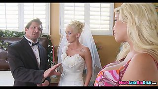 milf teaches her on wedding day
