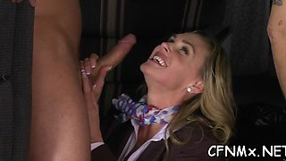 girl has party with hard dick