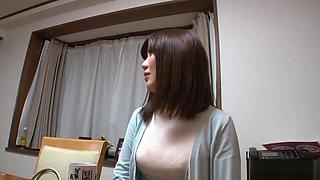 Hot milf Saki Mizumi is a horny housewife