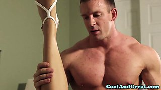 Horny bride blows her husband