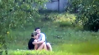 Beautiful babe gets nailed by her boyfriend in the outdoors