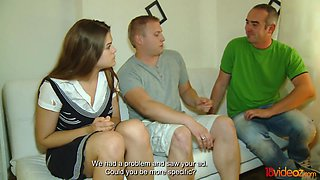 18 Videoz - He needs the money and she needs cock