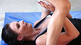 Dana Vespoli & Phoenix Marie Fit gym babes lick each others asses
